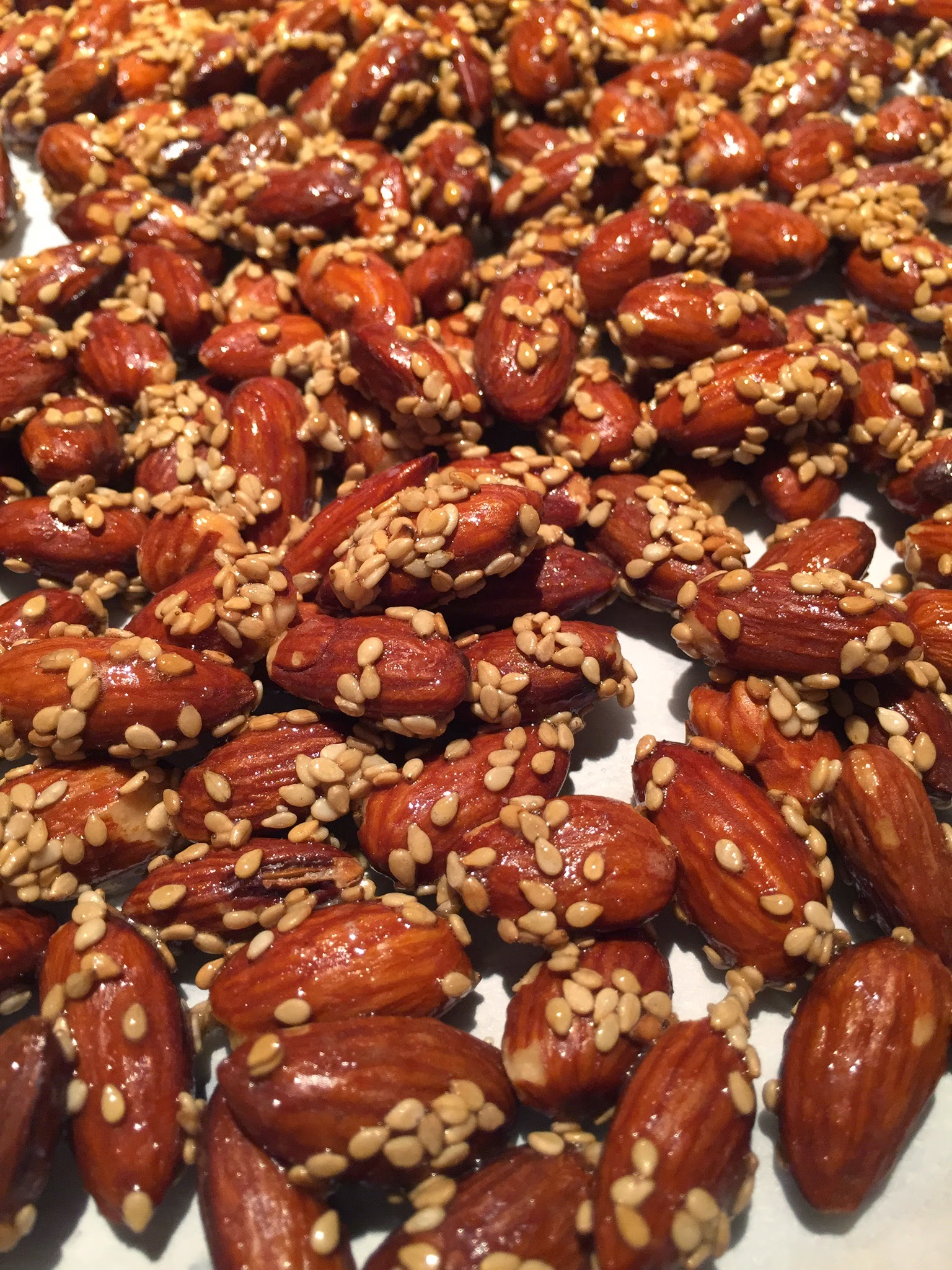 Honey Sesame Almonds